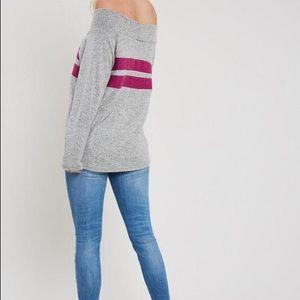 Sami Rae Boutique Tops - Stripe Off the Shoulder Top